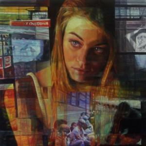 4 - Il viaggio, 2012, olio su tela, 30 x 30 cm