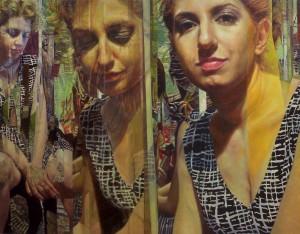 7 - Egotica, 2013, olio su tela, 110 x 141 cm