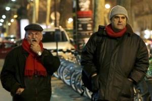 Giovanni Senzani e Pippo Delbuono in una scena del film