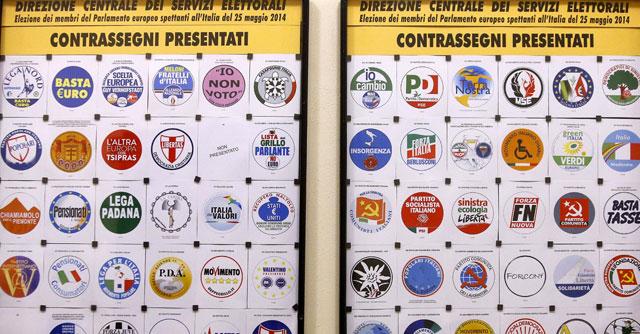 Elezioni europee fra le liste tanti scudi crociati e poca for Lista politici italiani