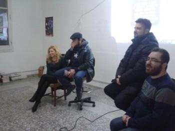 LABO al Taranto Comix: Mara Venuto (a sinistra), Andrea Buongiorno Buong e Luigi Simonetti (ultimi due a destra)