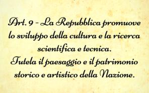 Articolo 9 della Costituzione